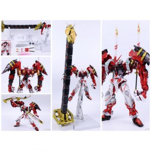 MG Gundam 8814 Astray red frame+Powered red & 150 Gerbera Straight