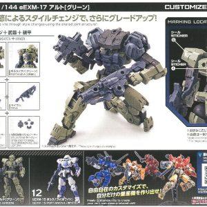 Mô hình Bandai Gundam 30MM 1144 bEXM-15 Portanova Green