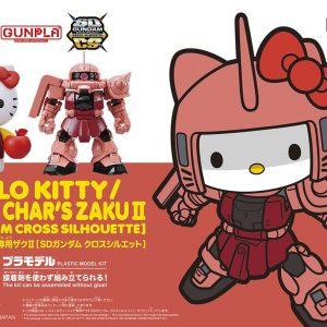 Mô hình Gundam Bandai SD Hello Kitty MS-06S Char's Zaku II