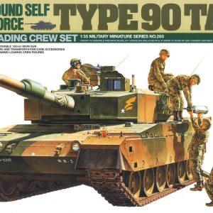 Mô Hình Xe Tăng Quân Sự JGSDF Type 90 Tank wAmmo-Loading Crew Set Tamiya 35260